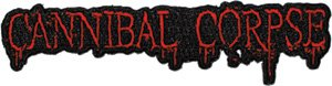 Cannibal Corpse Iron-On Patch Red Letters Logo