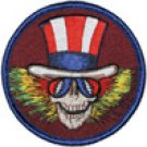 Grateful Dead Iron-On Patch Uncle Sam Logo Circle