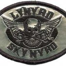 Lynyrd Skynyrd Iron-On Patch Silver Biker Logo