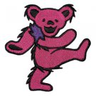 Grateful Dead Iron-On Patch Pink Dancing Bear