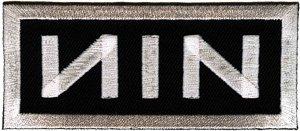 Nine Inch Nails Iron-On Patch NIN White Logo