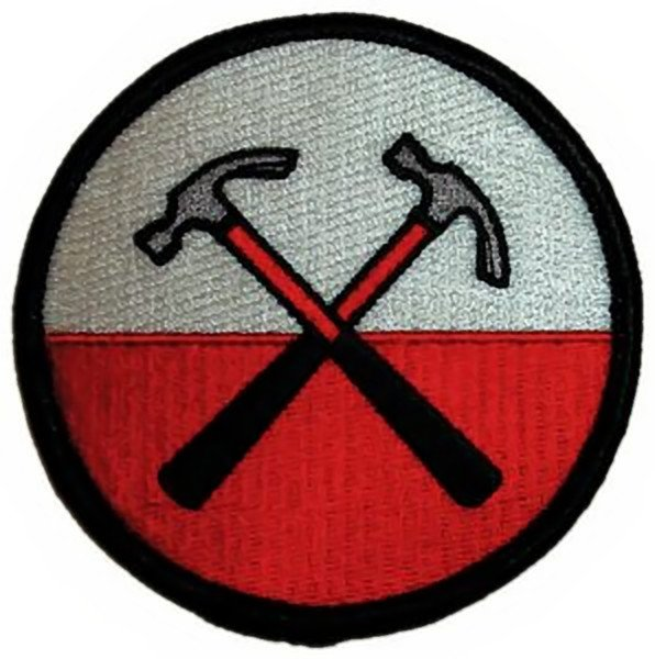 Pink Floyd Iron-On Patch Marching Hammers Logo