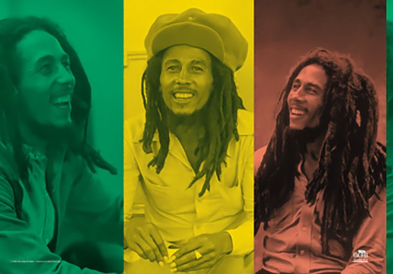 Bob Marley Poster Flag Rasta Collage Reggae Tapestry