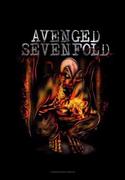 Avenged Sevenfold Poster Flag Fire Bat Tapestry