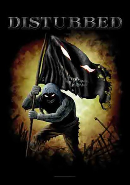 Disturbed poster flag face logo tapestry new