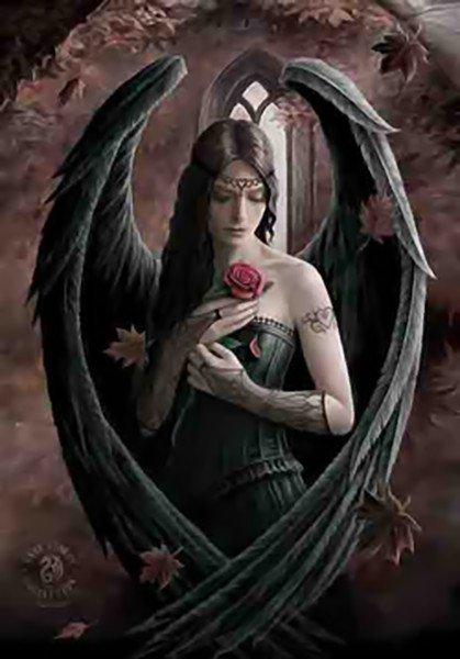 Anne Stokes Poster Flag Angel Rose Tapestry