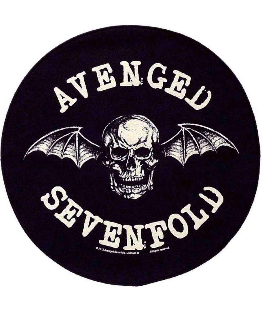Avenged Sevenfold Sew On Canvas Back Patch Round Death Bat Logo