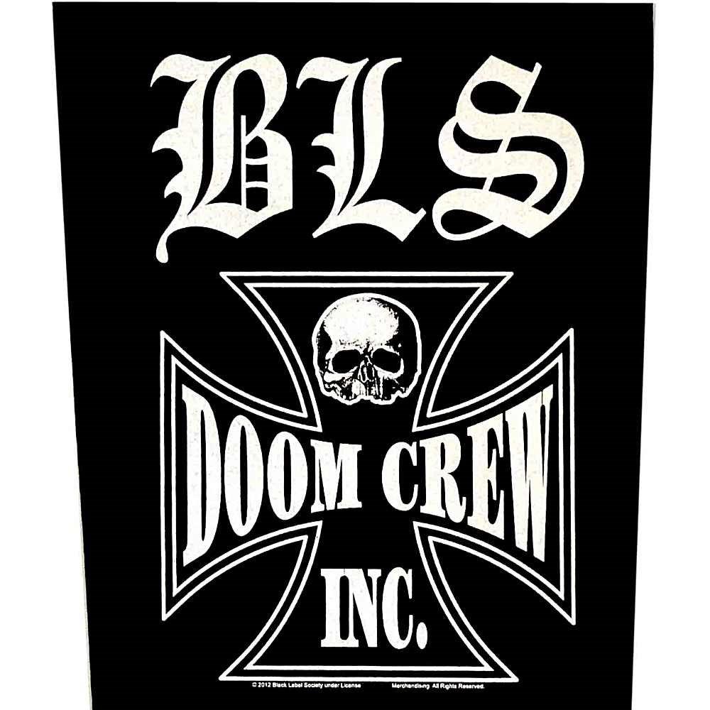 Black Label Society Sew On Canvas Back Patch Doom Crew Logo