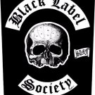Black Label Society Sew On Canvas Back Patch Skull Logo
