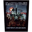 Iron Maiden Sew On Canvas Back Patch Matter Of Live And Death Logo
