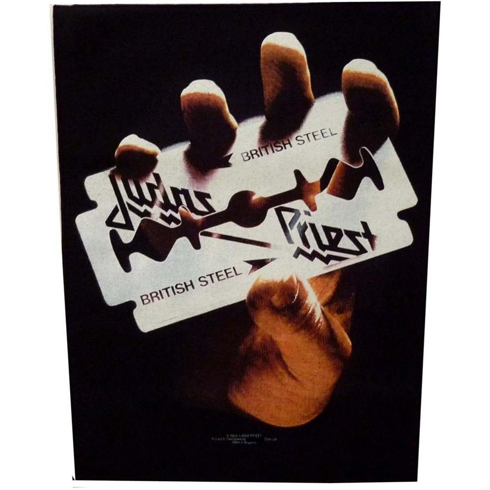 Judas Priest Sew On Canvas Back Patch British Steel Logo