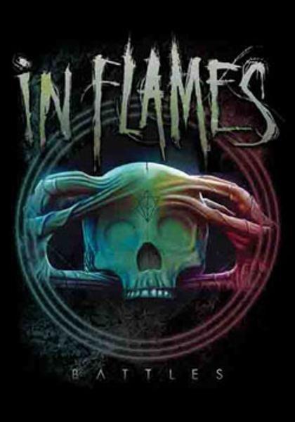 In Flames Poster Flag Battles Logo Tapestry