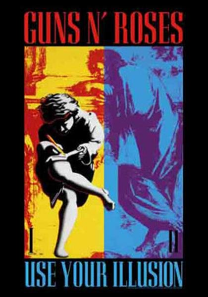 Guns n' Roses Poster Flag Use Your Illusion Tapestry