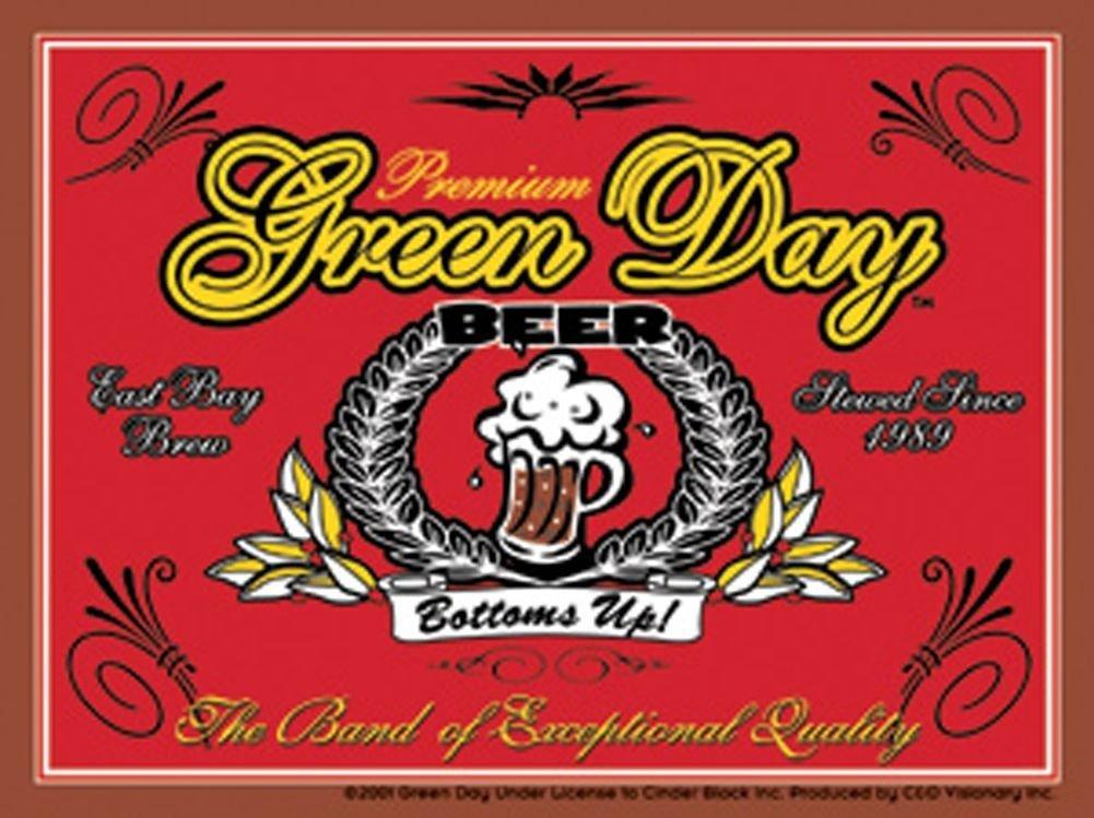 Green Day Vinyl Sticker Beer Label Logo