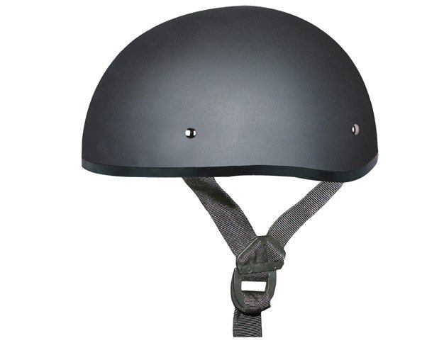 DULL BLACK Helmet - Daytona Skull Cap w/out Visor