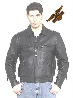 Black Jacket w/ Hidden Collar - Naked Leather