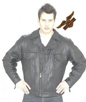 Black Jacket w/ Side Laces - Naked Leather
