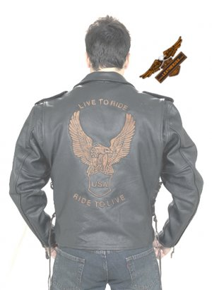 Retro Brown 'Ride To Live' Jacket - Soft Leather