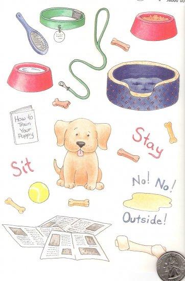 Training a puppy? Newspaper, ball, leash, collar, bones