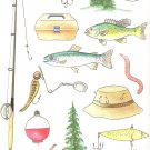 Got a fisherman? Fishing Pole, Lures, worms, tacklebox