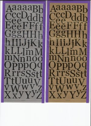 """GOLD 3/4"""" Capital & Lower Alphabet Letter Stickers"""