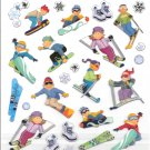 12 People on skiies / snowboard stickers & More..
