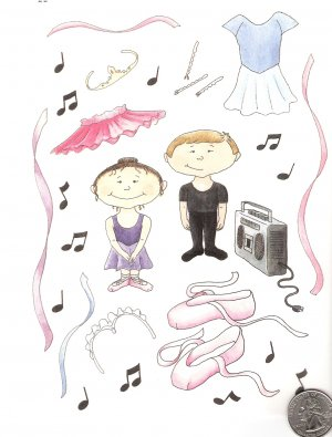 Ballet dancer, tutu, ballerina, toeshoes, bobbypins