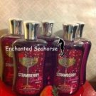 Lot of 5 Bath and Body Works Strawberry Sparkler Fragrance Shower Gel $55