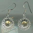 Sterling Silver .925 Citrine Bezel Set Dangle earrings $34.99