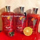 Lot of 3 Bath and Body Works Jingle Bellini Peach Shower Gel $33