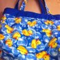 Rubber Ducky Dark Blue Diaper Bag Totebag Purse Reverible with 4 pockets $24.99
