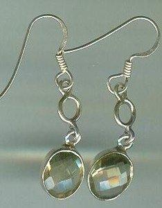 Sterling Silver Bezel Set Citrine Earrings $19.99