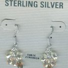 Sterling Silver Cubic Zirconia Dangle Earrings Brown, Peach, White, Taupe $34.99