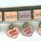 Lot of 4 Bella Oro Valentines Sweethearts Necco Candy Italian Charms $45