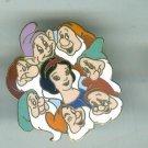 Snow White & 7 Dwarfs Wreath Retired Cloisonne Pin $45.00