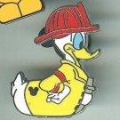 Walt Disney World Donald Duck Rubber Ducky Fireman Hidden Mickey Pin $7.99