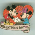 Walt Disney World Mickey & Minnie Mouse Valentines Day Heart Sparkle 2002 Pin $29.99