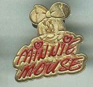 Walt Disney World Golden Minnie Mouse Signature Pin 2004 $6.99