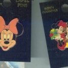 Lot of 2 Vintage Minnie Mouse and Mickey Mouse Enamel Pins $24.99