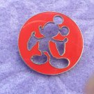 Mickey Mouse Sillouhette Cut Out Disney Pin