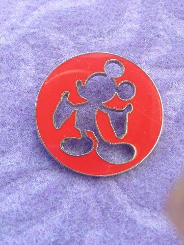 Mickey Mouse Sillouhette Cut Out Disney Pin