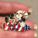Authentic Walt Disney July 4th 2000- Mickey on Firecracker Patriotic Pin LE10000