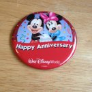 New1st Visit Walt Disney World Badge Happy Anniversary Mickey and Minnie Mouse