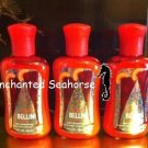 Lot of 3 Bath and Body Works Jingle Bellini Peach Mini Travel Lotions $15.00