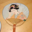 "Beautiful Oriental Asian Geisha Lady Hand Held 14"" Fan F"