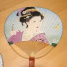 "Beautiful Oriental Asian Geisha Lady Hand Held 14"" Fan J"