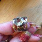 New Solid Sterling Silver .925 Large Citrine Bezel Set Cigar Band Ring Size 8