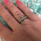 Sterling Silver .925 And Copper Spinning Spinner Sz 8 Ring