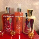 Lot of 3 Bath and Body Works Jingle Bellini Shimmer Mist, Shower Gel Lotion $32.99