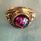 Sterling Silver .925 Dichroic Glass Ring. Size 8.75 $24.99